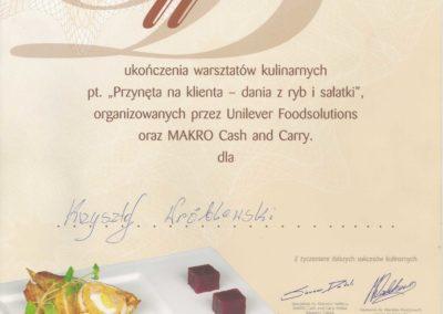 Krisstek - Certyfikat - Dania z ryb i sałatki