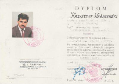 Krisstek - Dyplom - Mistrz Kucharski