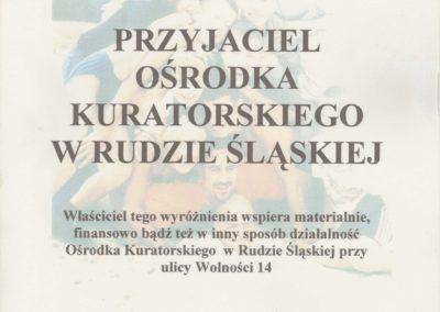 Krisstek - Certyfikat - Wyróżnienie - 1